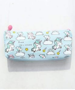 Unicorn Pencil Case Sky Blue