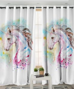 Unicorn Curtains White