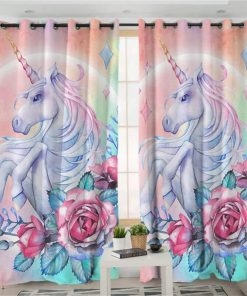 Unicorn Curtains Pink
