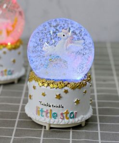 Unicorn Snow Globe Indigo