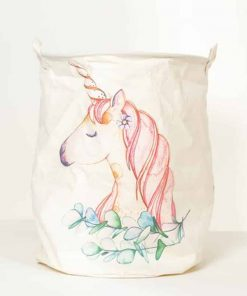 Unicorn Hamper White Horse Laundry Basket