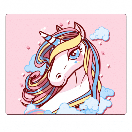 Unicorn Mouse Pad Pink