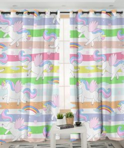 Unicorn Curtains Window