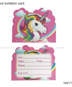 Unicorn Birthday Invitation Cri