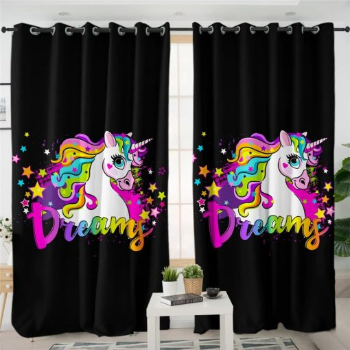 Unicorn Curtains Color