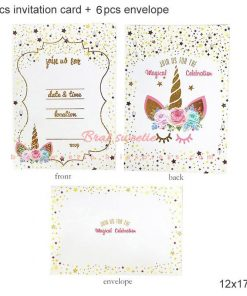 Unicorn Birthday Invitation Party Wording