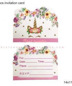 Unicorn Birthday Invitation Custom