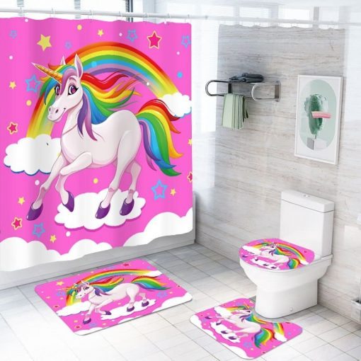 Unicorn Bathroom Set Pink