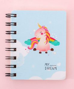 Unicorn Notebook Blue