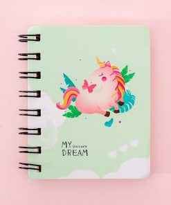 Unicorn Notebook Green