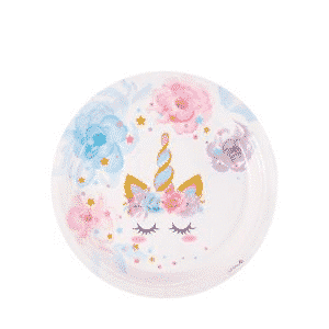 Unicorn Plates Birthday