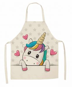 Unicorn Apron White