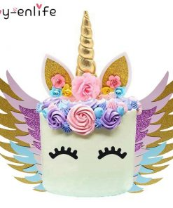 Unicorn Cake Topper Blue