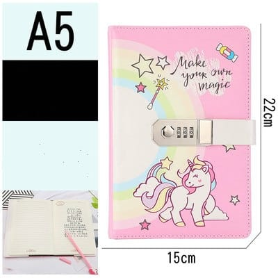 Unicorn Notebook Lockable