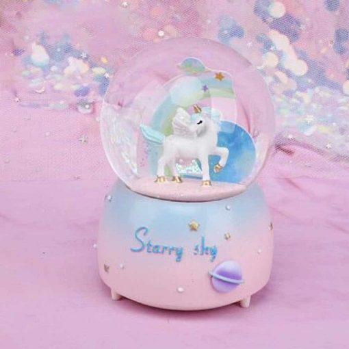 Unicorn Snow Globe A Little Lovely Company
