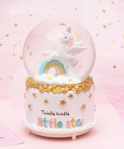 Unicorn Snow Globe Disco