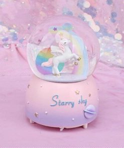 Unicorn Snow Globe Rainbow