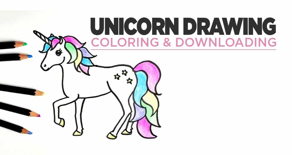 Our Best Unicorn Drawings And Colorings For Downloading