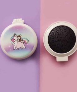 Unicorn Hair Brush With Mirror