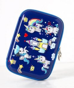 Unicorn Pencil Case With Compartments