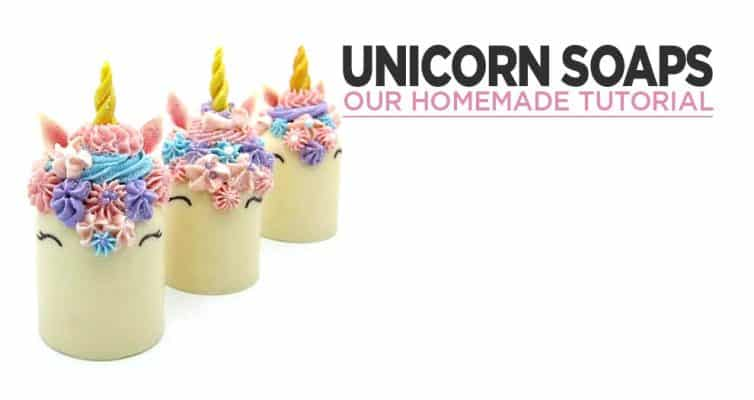 Our Homemade Unicorn Soaps Tutorial