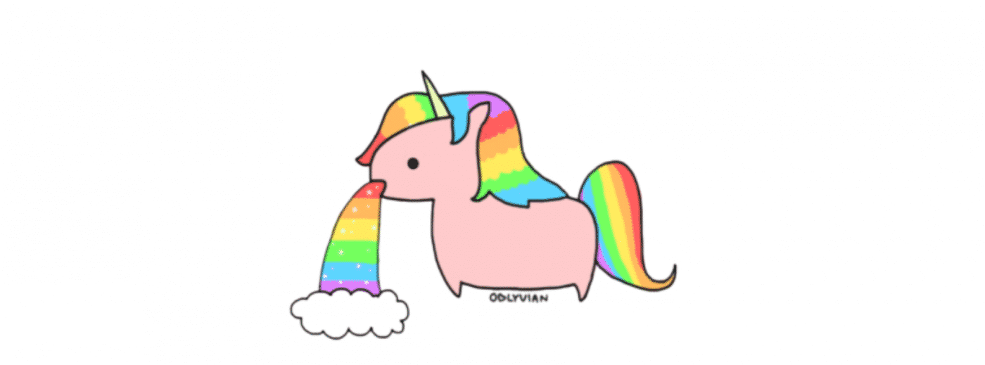 Unicorn Throwing Up A Rainbow