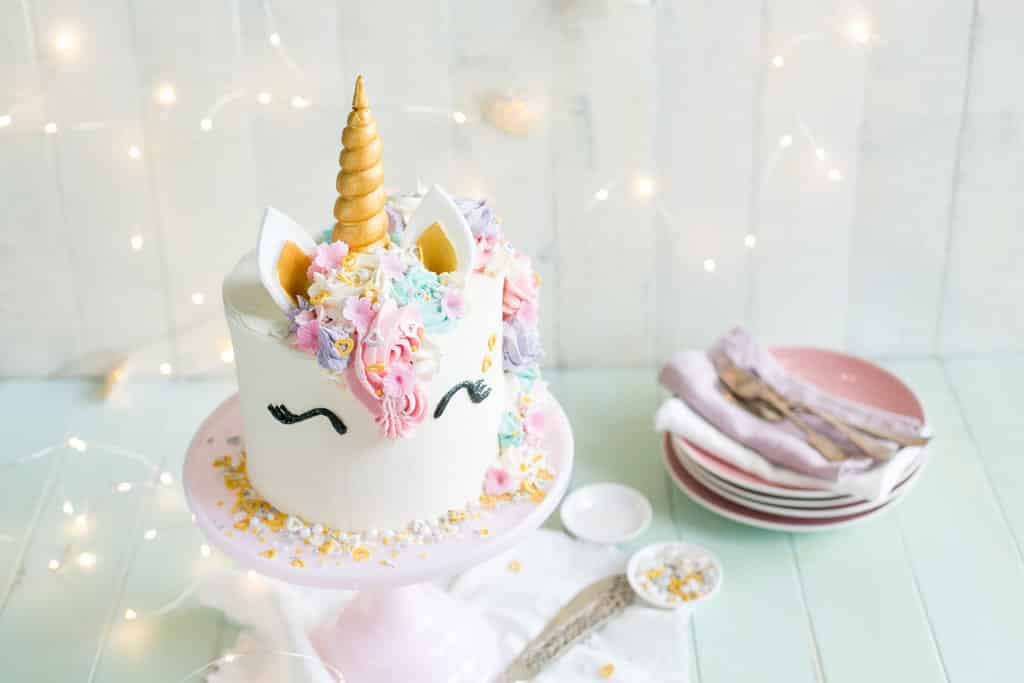White Unicorn Cake