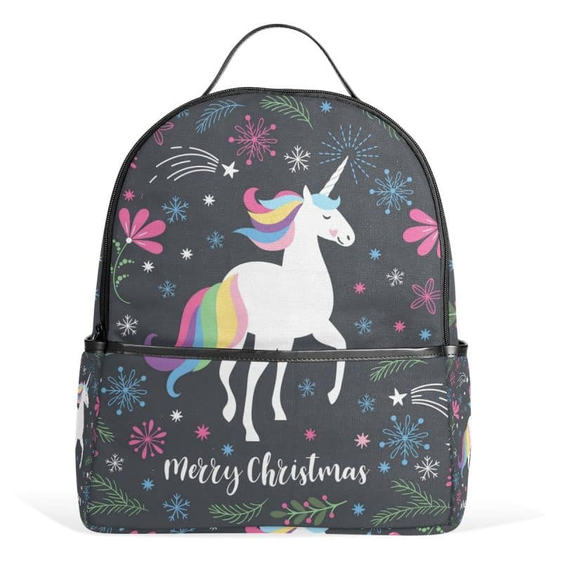 Merry Christmas Unicorn Backpack