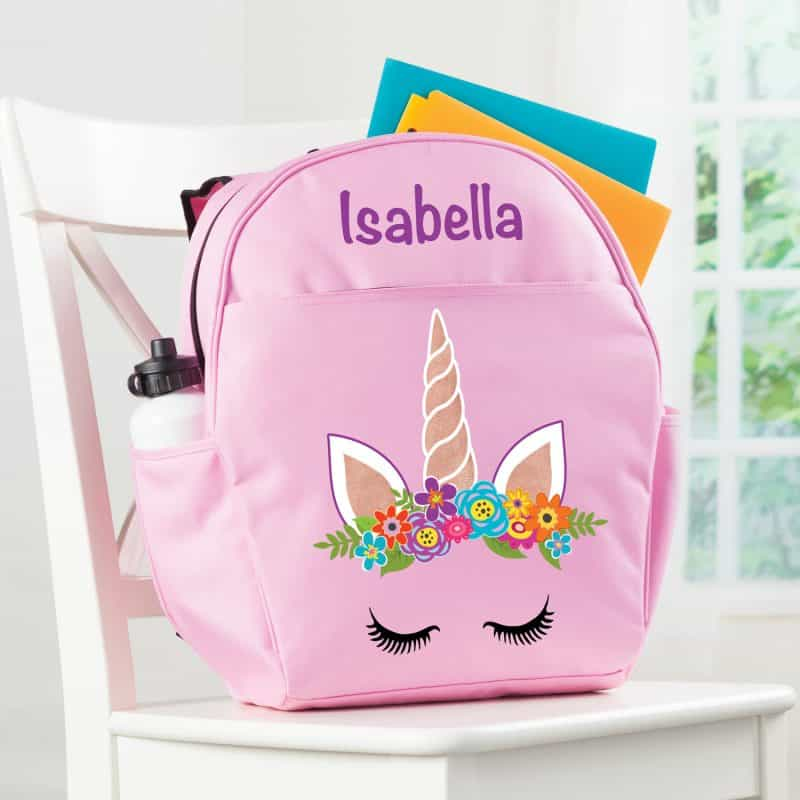 Pink Unicorn Backpack For School
