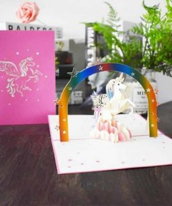Unicorn Birthday Invitation 3d