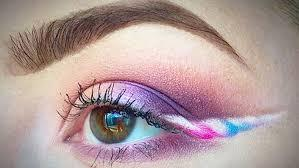 Unicorn Eyes Makeup With A Horn