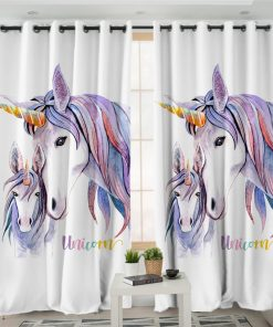 Unicorn Curtains For Girls Bedroom