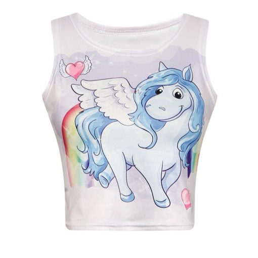 Unicorn Crop Top Traditional