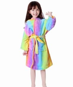 Unicorn Robe Rainbow