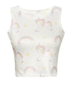 Unicorn Crop Top Cute