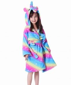 Unicorn Robe Girls Hooded