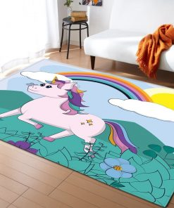 Unicorn Rug Rainbow