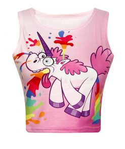 Unicorn Crop Top Vomiting