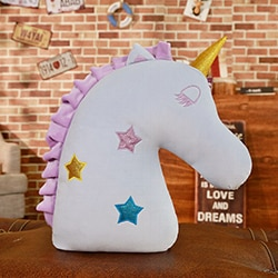 Unicorn Pillow Blue