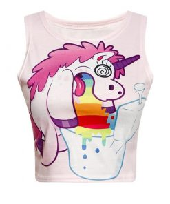 Unicorn Crop Top Rose