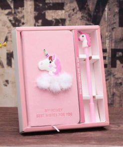 Unicorn Diary Squishy Gel Pink