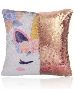 Unicorn Pillow Sequin Little Target