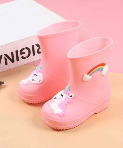 Unicorn Boots Girls Rain