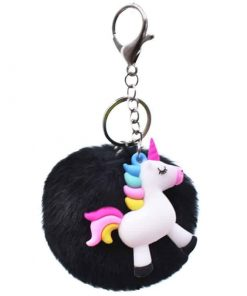 Unicorn Keychain Do The Justice Pom