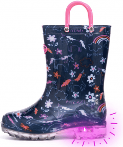 Unicorn Boots Light Up Rain