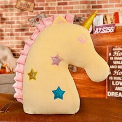 Unicorn Pillow Yellow