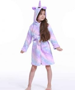 Unicorn Robe Big Girls