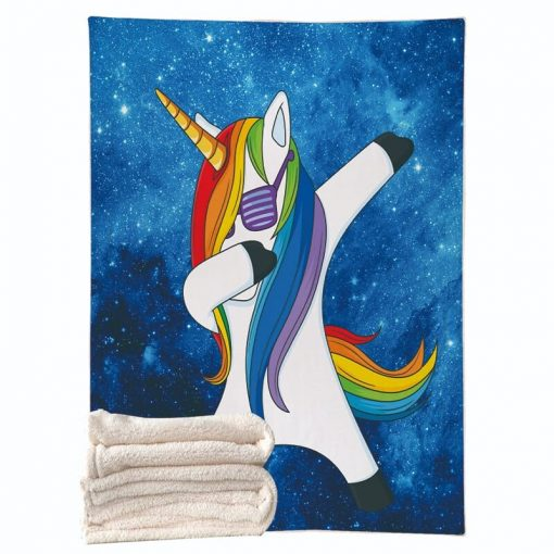 Unicorn Blanket Blue