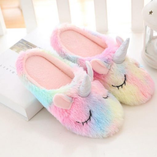 Unicorn Slippers Toddler Girl