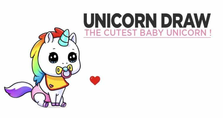 Our Tutorial To Learn How To Draw A Little Baby Unicorn